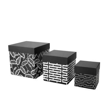 Caja con tapa juego de 3 (8,50€)