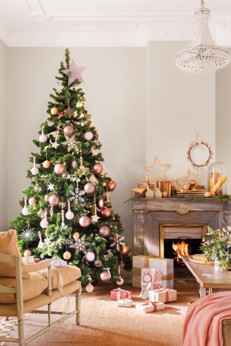 Árbol Navidad en tonos pasteles