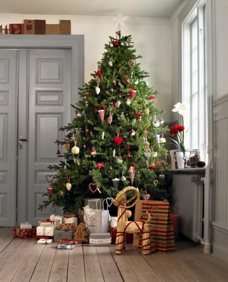 Árbol de Navidad en Rojo