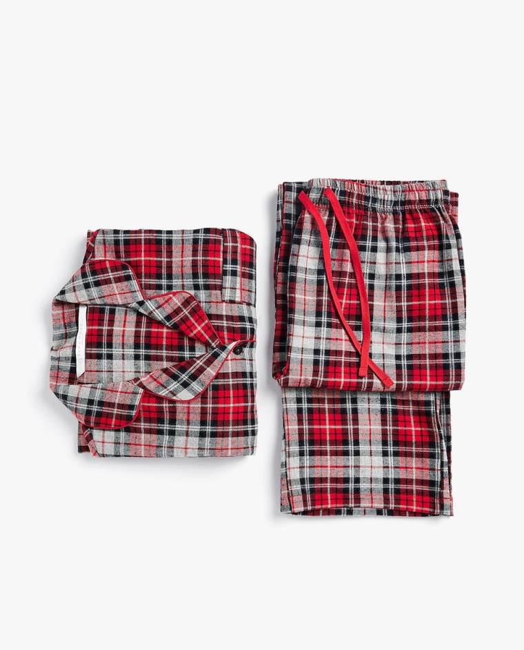 Set Pijama Franela Cuadros