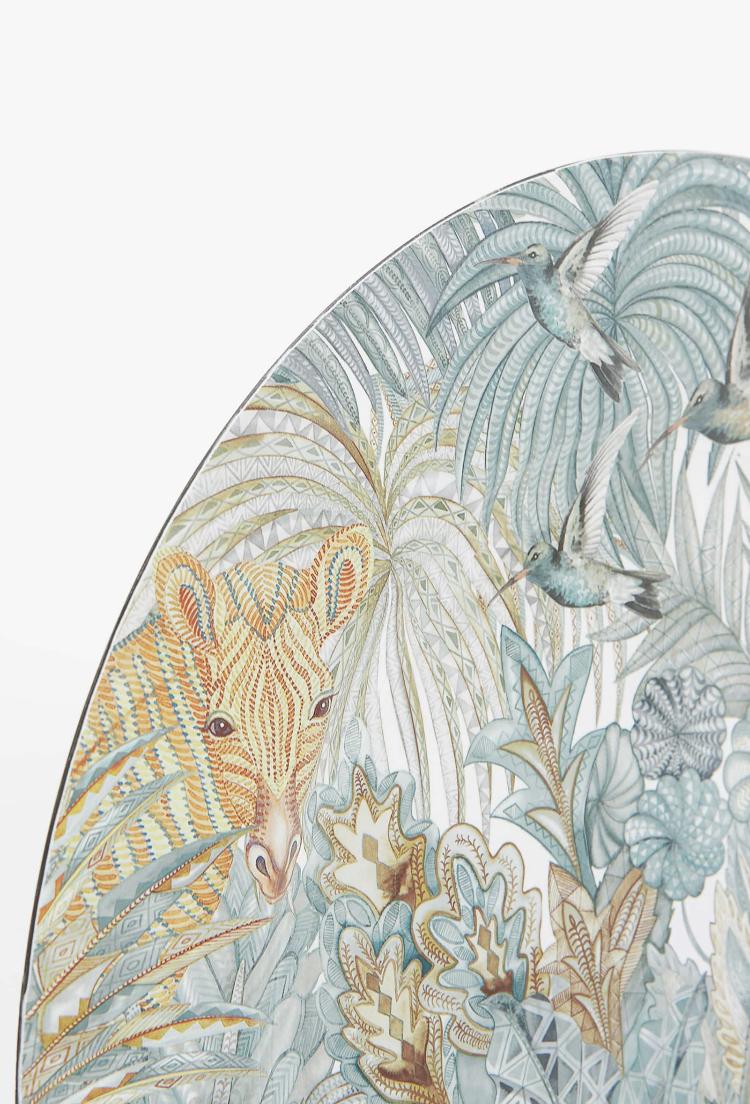 Bajoplato Plástico Dibujo Jirafas - Zara Home