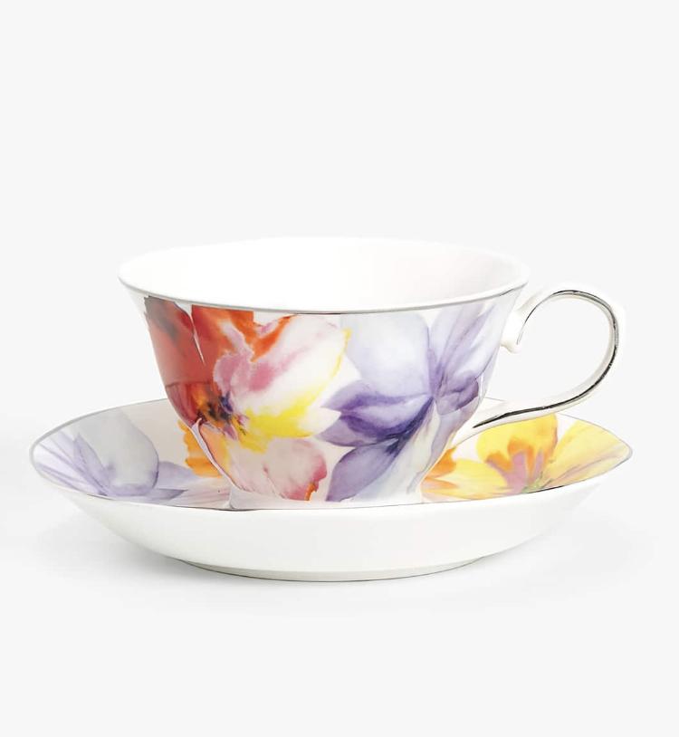 Taza Té Porcelana Magnolia Zara Home