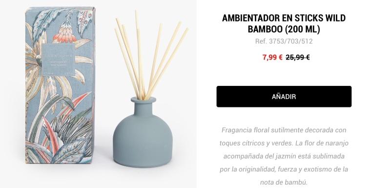 Ambientador en Sticks Wild Bamboo Zara Home