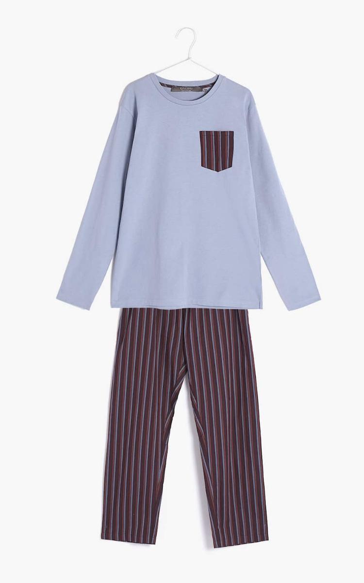 Pijama Manga Larga Rayas Zara Home