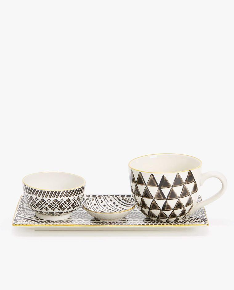 Fuente Porcelana Diseño Geométrico Zara Home