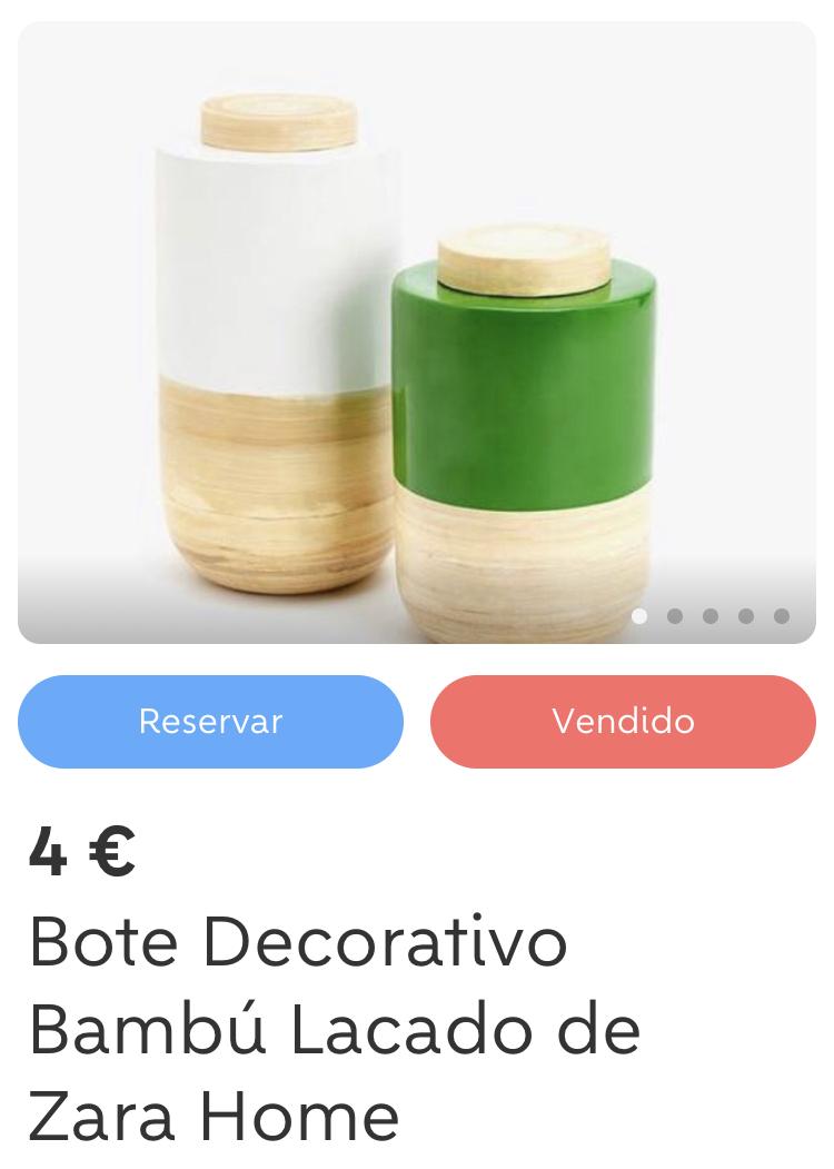 Bote Bambú con tapa - Zara Home