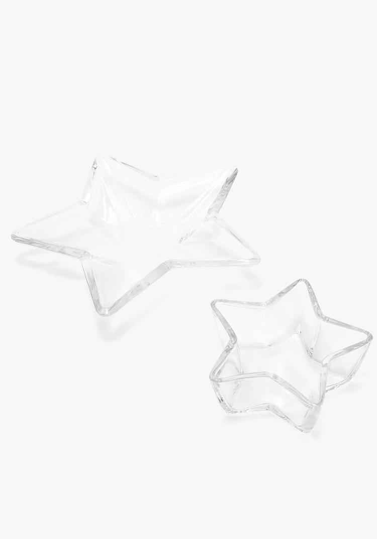 Set Bowls Vidrio Estrella Zara Home