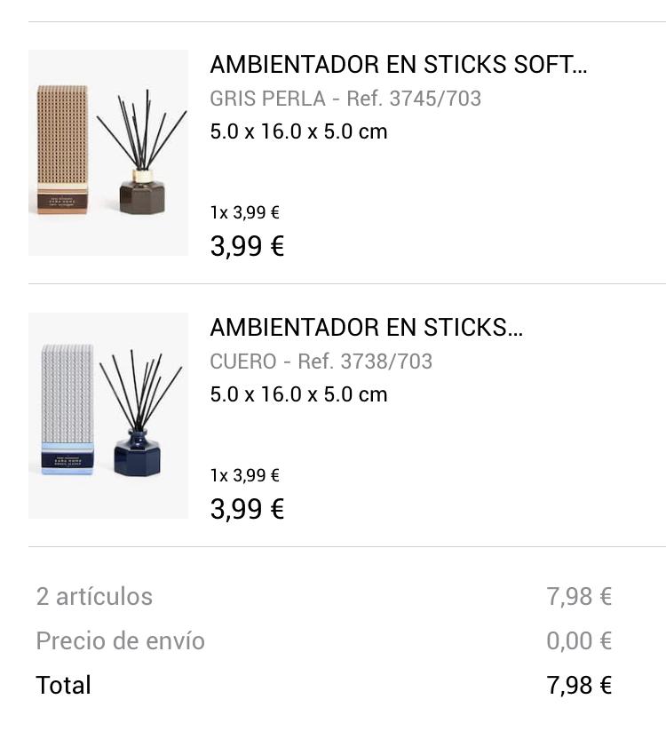 Ambientadores en Sticks - Rebajas Zara Home