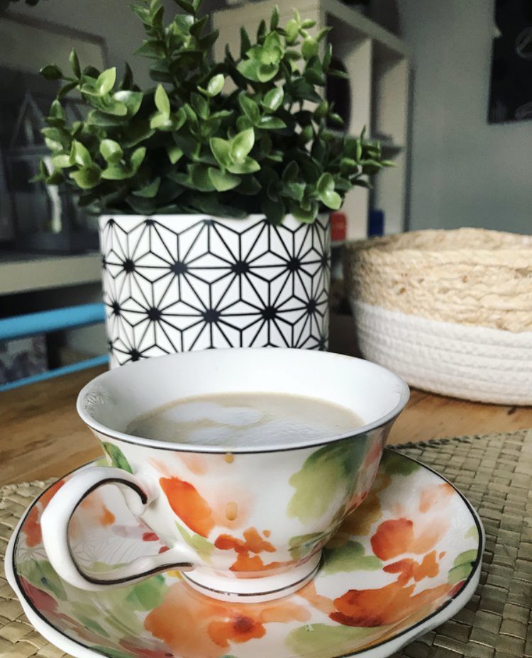 Taza de té y plato porcelana de Zara Home