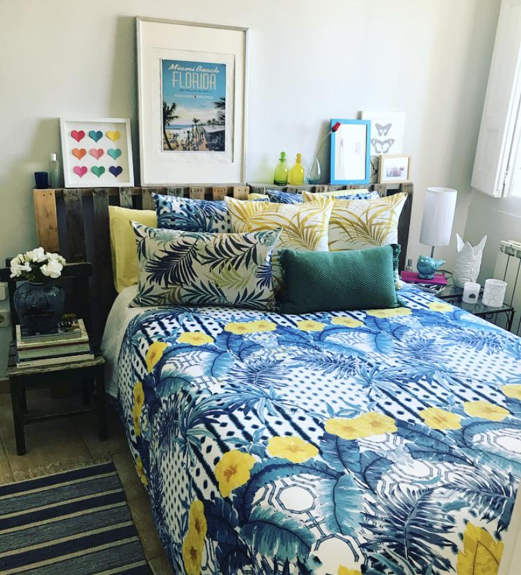 Estampados tropicales para tu dormitorio