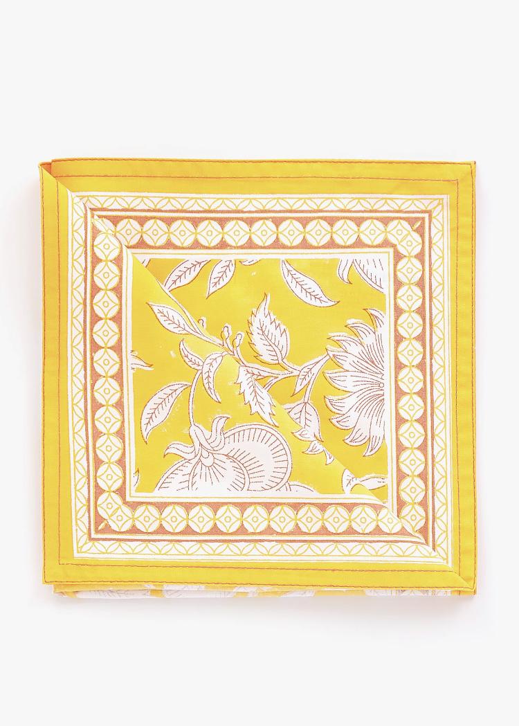 Servilleta Estampado Flores Color Calabaza de Zara Home
