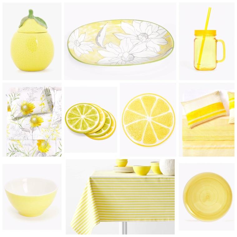 El amarillo en Zara Home