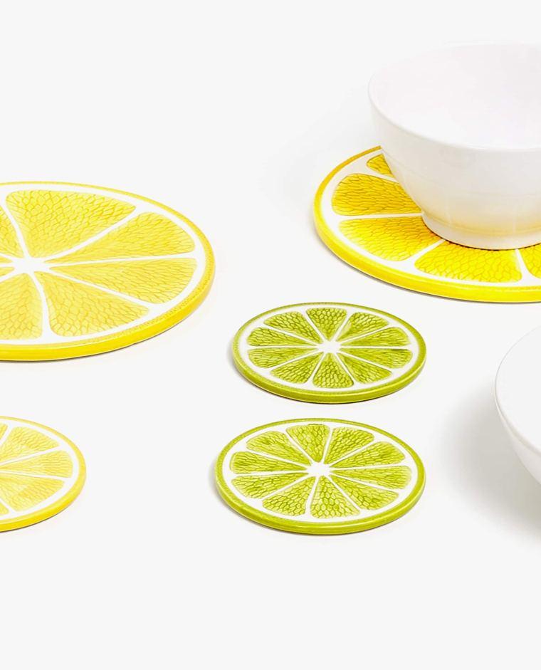 Set Salvamantel y Posavasos Medio Limon de Zara Home