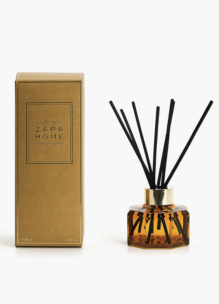 Ambientador en Sticks Golden Grass de Zara Home