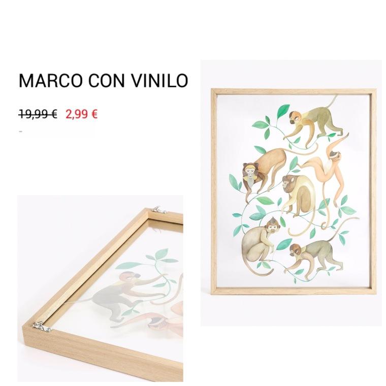Marco con vinilo - Rebajas de Zara Home